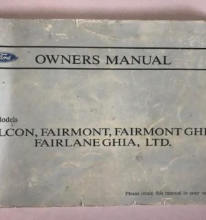 1994 FORD FALCON OWNERS HANDBOOK / USER MANUAL / HAND BOOK