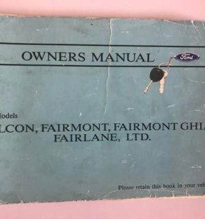 1992 FORD FALCON OWNERS HANDBOOK / USER MANUAL / HAND BOOK